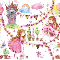 Servietten 33x33 cm - Fairy Tale Princess