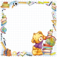 Servietten 33x33 cm - Cute Back to School