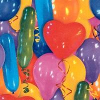 Servietten 33x33 cm - Luftballons