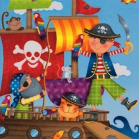 Servietten 33x33 cm - Pirates
