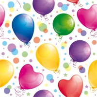 Servietten 33x33 cm - Glossy Balloons