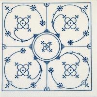 Servietten 33x33 cm - Indisch blau