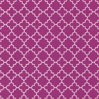 Servietten 33x33 cm - Quattrefoil Lattice pink