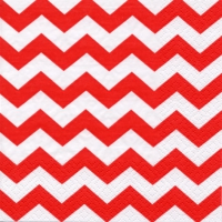 Servietten 33x33 cm - Chevron red