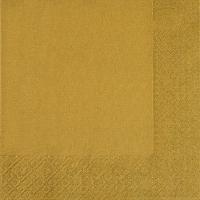 Servietten 33x33 cm - gold
