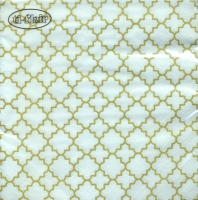 Servietten 33x33 cm - Quattrefoil Lattice Fine gold