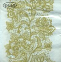 Servietten 33x33 cm - Lace Pattern gold
