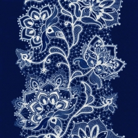Lunch Servietten White Lace navy