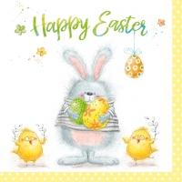 Servietten 33x33 cm - Happy Easter Team