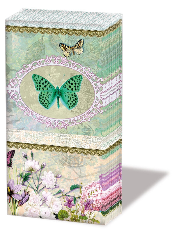 Taschentücher - Schmetterlings-Medaillon