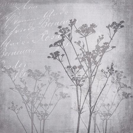 Servietten 25x25 cm - Blumenharmonie Grau