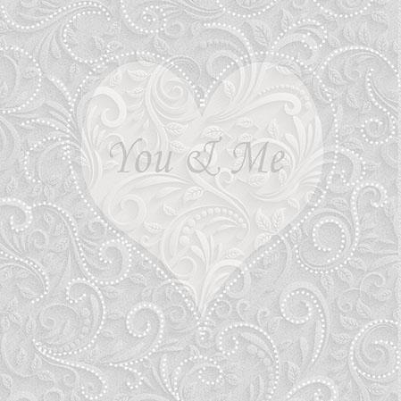 Servietten 25x25 cm - You & Me Champagne