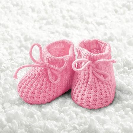 Servietten 25x25 cm - Baby Mädchen Booties