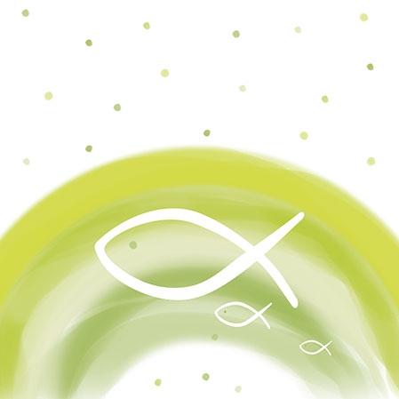 Servietten 25x25 cm - Regenbogengrün