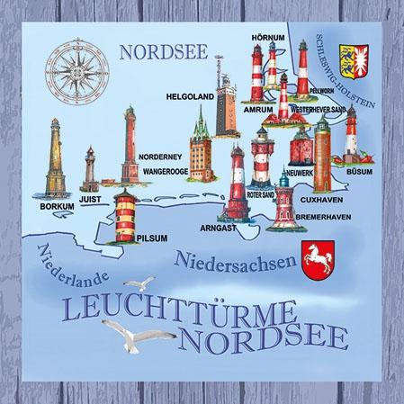 Servietten 25x25 cm - Nordsee-Ostsee