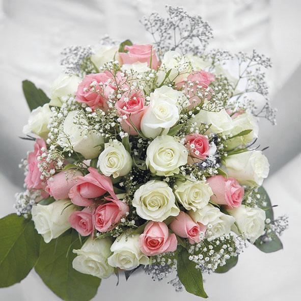 Servietten 33x33 cm - Wedding Bouquet