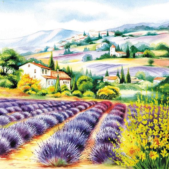 Servietten 33x33 cm - Lavender Fields