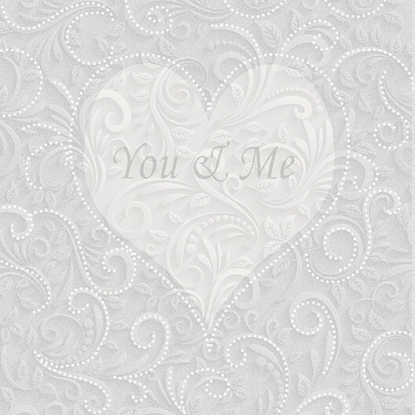 Servietten 33x33 cm - You & Me Champagne