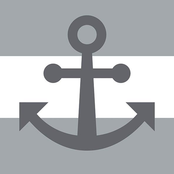 Servietten 33x33 cm - Anker Auswärts grau