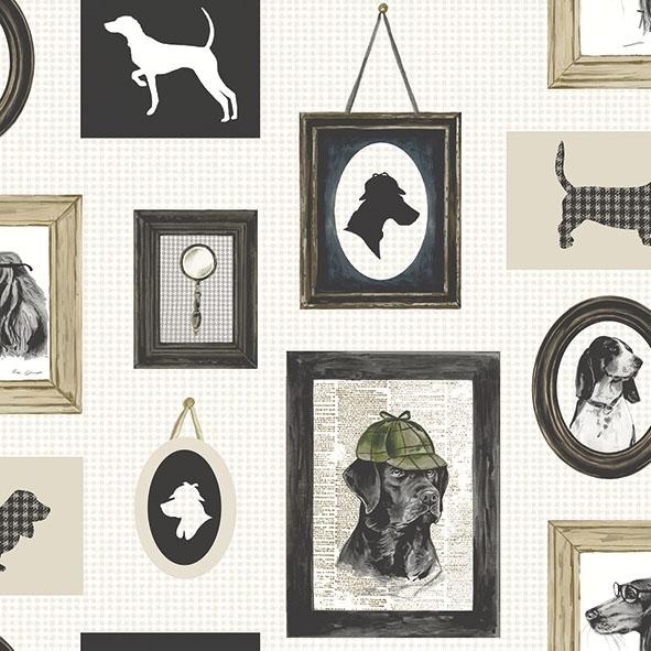 Servietten 33x33 cm - Detektivhund