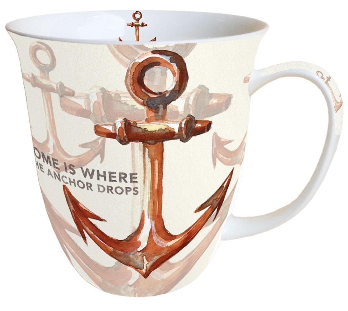 Porzellan-Tasse - Rusty Anchor