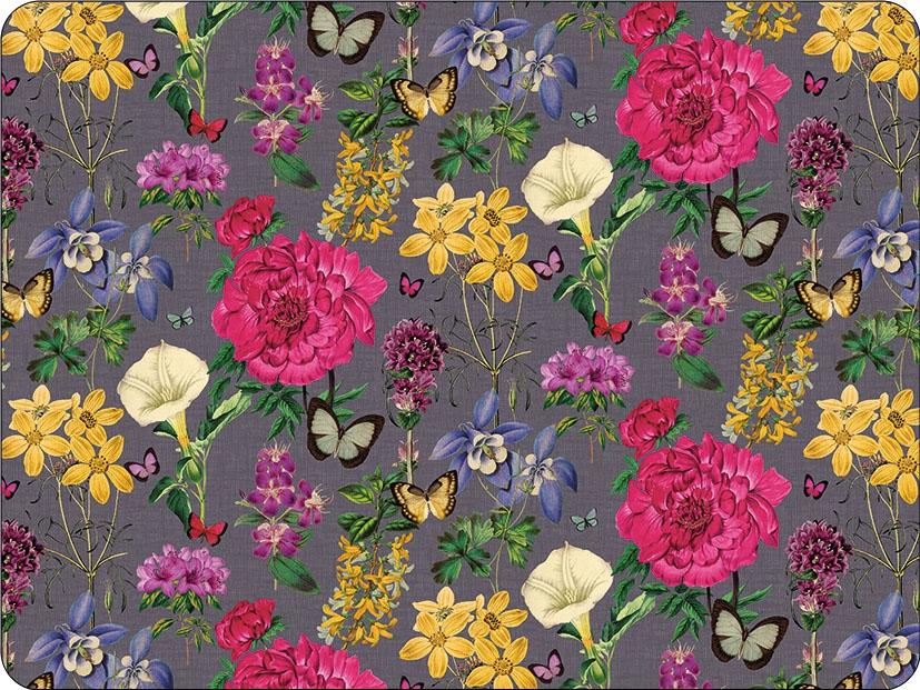 Tischsets - Botanical Florals Grey