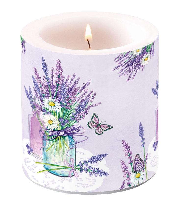 Dekorkerze klein - Lavender Jar Lilac