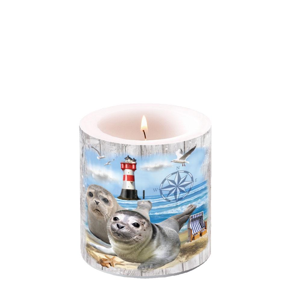 Dekorkerze klein - Seal Couple