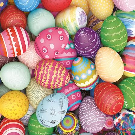 Servietten 25x25 cm - Colourful Eggs