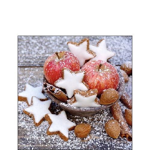Servietten 25x25 cm - Apples & Cookies