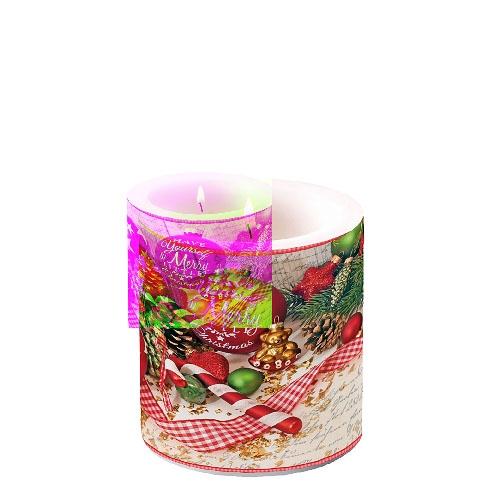 Dekorkerze klein -  Merry Little Christmas