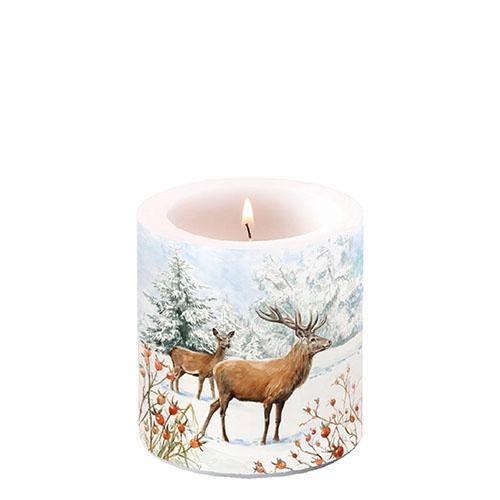 Dekorkerze klein - Deer In Snow