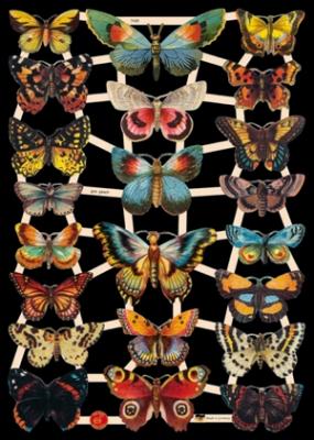 Glanzbilder mit Glimmer - Schmetterlinge