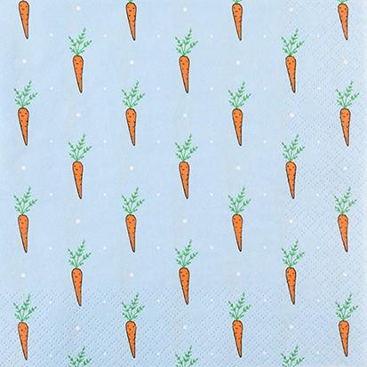 Servietten 25x25 cm - Nur Karotten