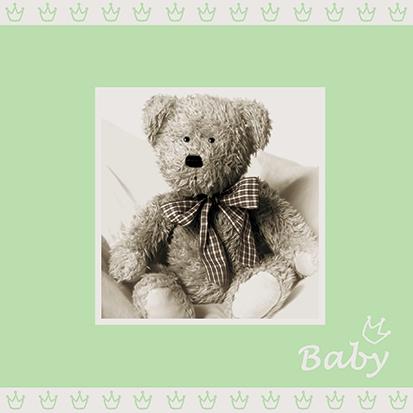 Servietten 25x25 cm - Baby hellgrün