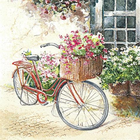 Lunch Servietten Flower Bike
