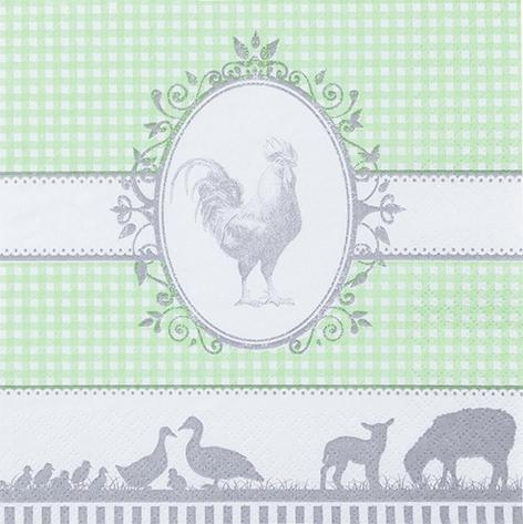 Servietten 33x33 cm - Land hellgrün