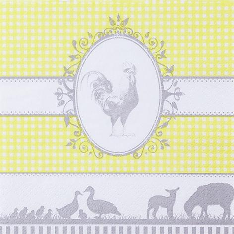 Servietten 33x33 cm - Land gelb