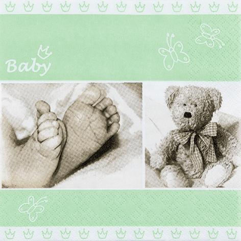 Servietten 33x33 cm - Baby hellgrün