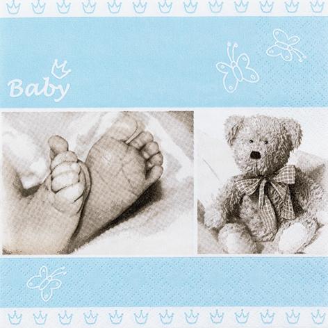 Servietten 33x33 cm - Baby blue