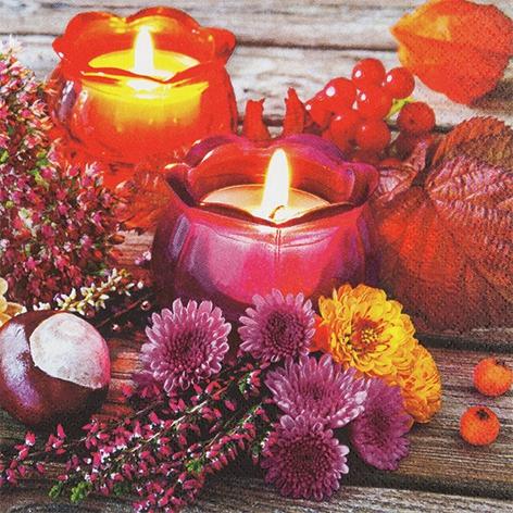 Servietten 33x33 cm - Autumn Lantern