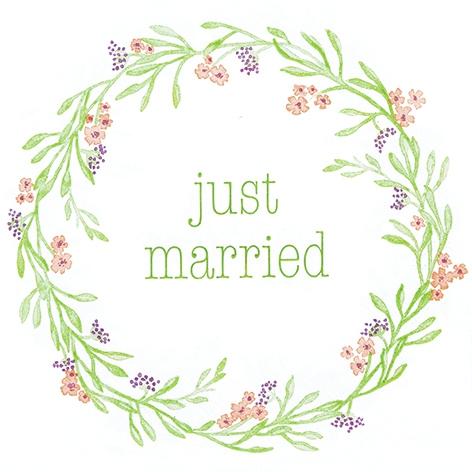 Servietten 33x33 cm - Mia: Gerade geheiratet