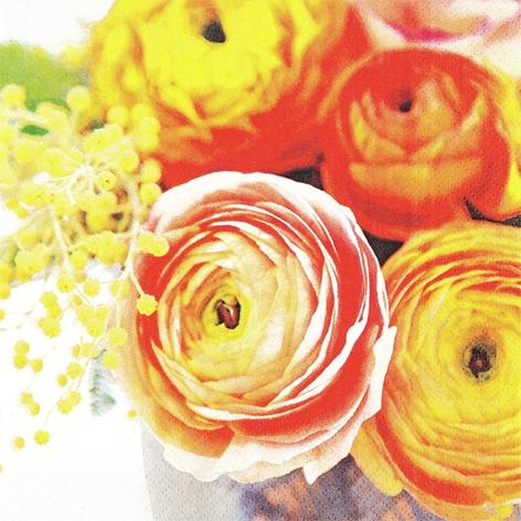 Servietten 33x33 cm - Beauty of Ranunculus