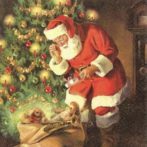 Servietten 33x33 cm - Ein Geschenk für den Weihnachtsmann