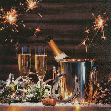 Servietten 33x33 cm - New Yearïs Eve
