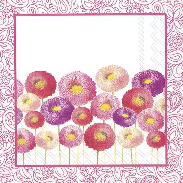 Servietten 25x25 cm - PRETTY BELLIS pink