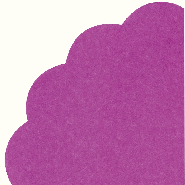 Servietten - Rund - UNI dark purple