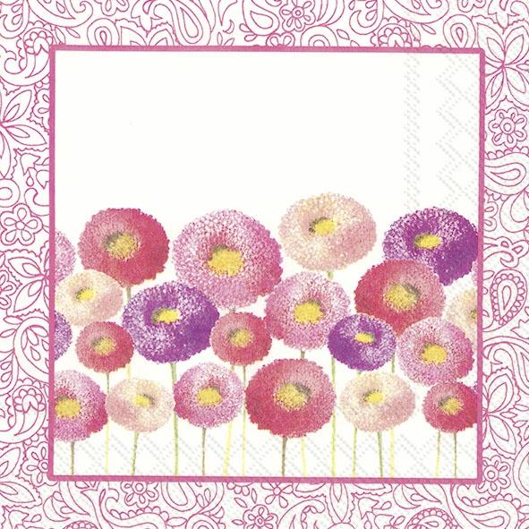 Servietten 33x33 cm - PRETTY BELLIS pink
