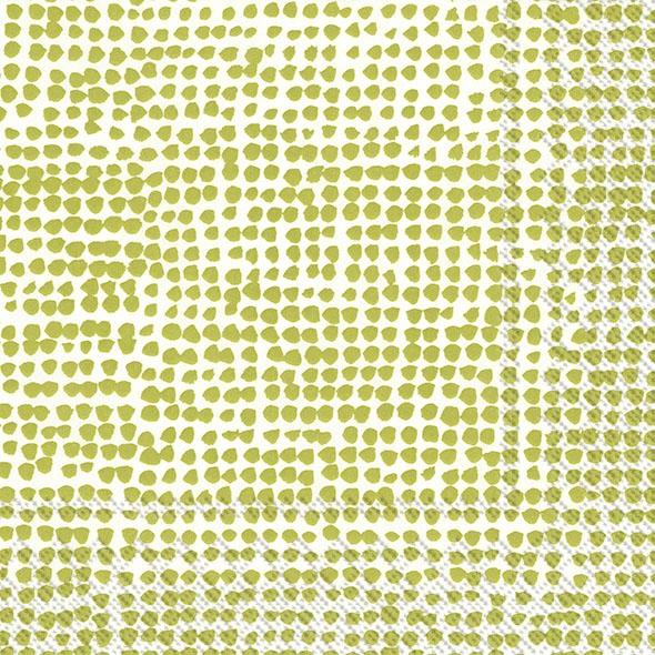 Servietten 33x33 cm - ORKANEN weiß grün grün