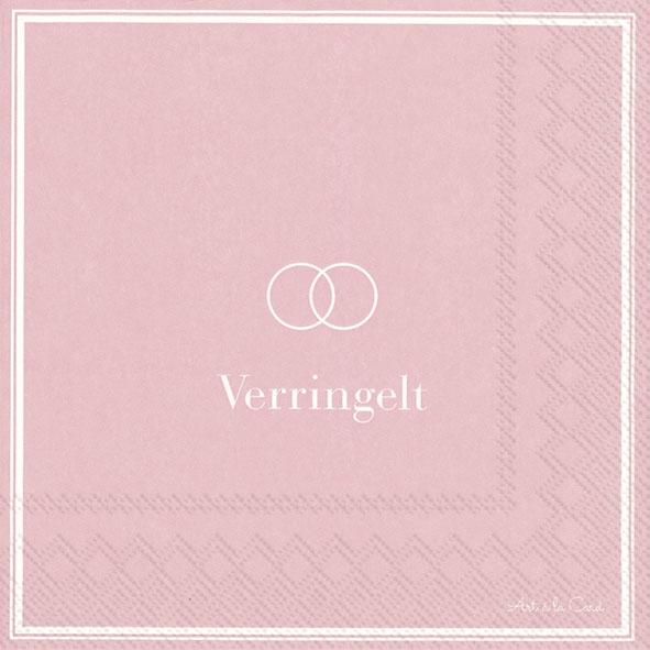 Servietten 33x33 cm - VERRINGELT light rose